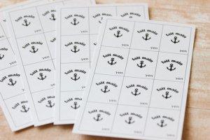 画像2: ミニプライスタグ/イカリ 【名刺】15枚入(180枚分)