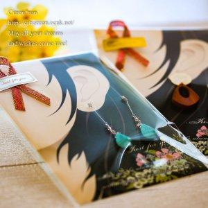 画像3: 【はがきサイズ/10枚入】 ラッピング台紙/耳flower